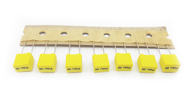 METALLIZED POLYESTER FILM CAPACITORS (SMALL BOX TYPE)